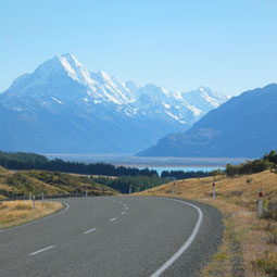 Open roads in New Zealand