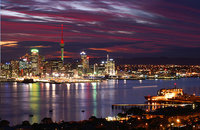 Auckland city by night