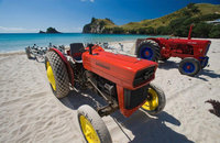 Tractors for launching boats on the beach