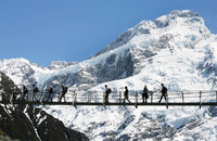 Incredible Walking Trail at Mount Cook, Ball Pass Track